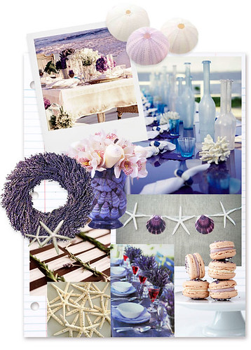 Lavender seaside decorating ideas We love the simplicity of blue and