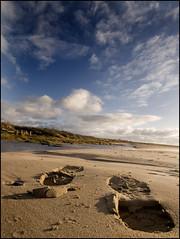 Size 5 (Carol Young photography) Tags: blue sea sky beach sand footprints ayrshire stevenston ayrshirecoast dapagroupmeritaward