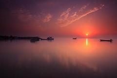 Morning View @ Hidd Bahrain (Helminadia Ranford) Tags: seascape reflection nature sunrise canon skyscape bahrain gulf dream arab arabia romantic gcc hidd eos50d vosplusbellesphotos canonlens1022mm