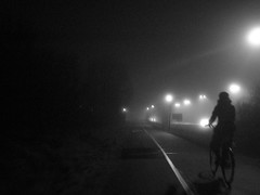 untitled (Smedjebacka) Tags: bicycle fog canon europe sweden streetlights ixus uppsala 40 018 flogsta