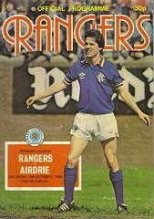 Rangers v Airdrie 19801018 (tcbuzz) Tags: cup club scotland football stadium glasgow scottish premier rangers league ibrox programme