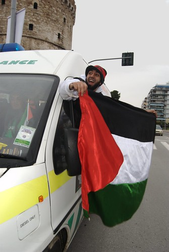 UK - Gaza aid convoy reaches Greece - Viva Palestina