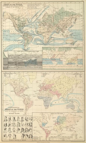 World physical and ethnological charts