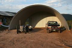 SteelMaster Metal Farm Equipment Storage
