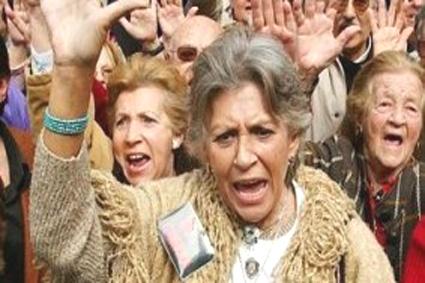 pilar bardem, en una manifestación contra la guerra de irak