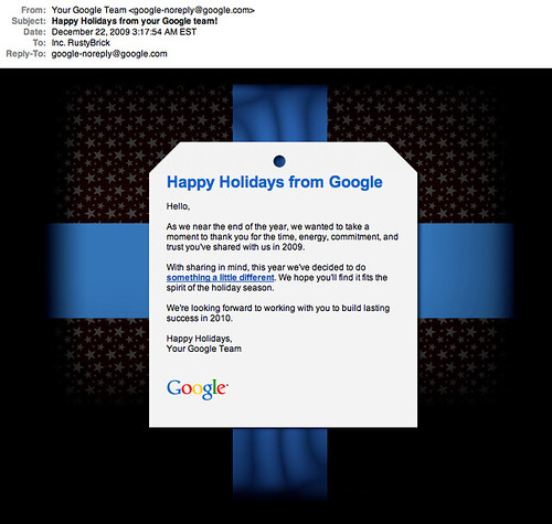 Google Holiday Present 2009