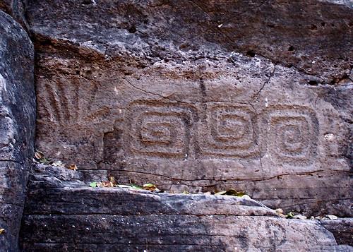 Petroglifos en Tehuelibampo, Sonora. by jessie_mpv