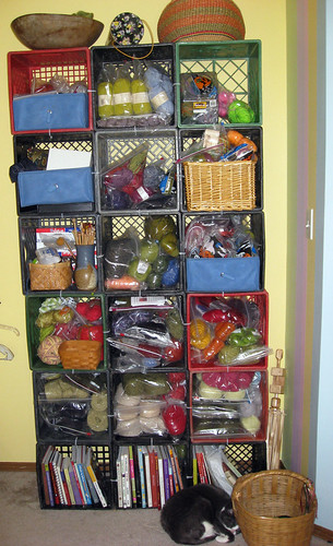 Yarn storage reorganized for 2010