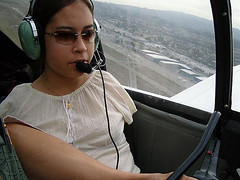In the Air (alljects) Tags: woman feet plane flying with arms jessica aviation cox armless without pilot services motivational