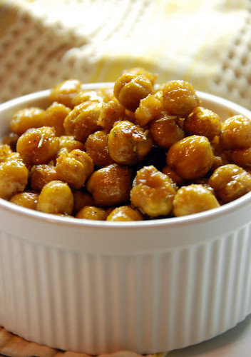 Spicy Sweet Roasted Chickpeas