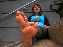 Proud woman with sexy soles 6 (RoughToughSoleMan) Tags: woman feet female fetish foot mature heels rough tough soles cracked calloused
