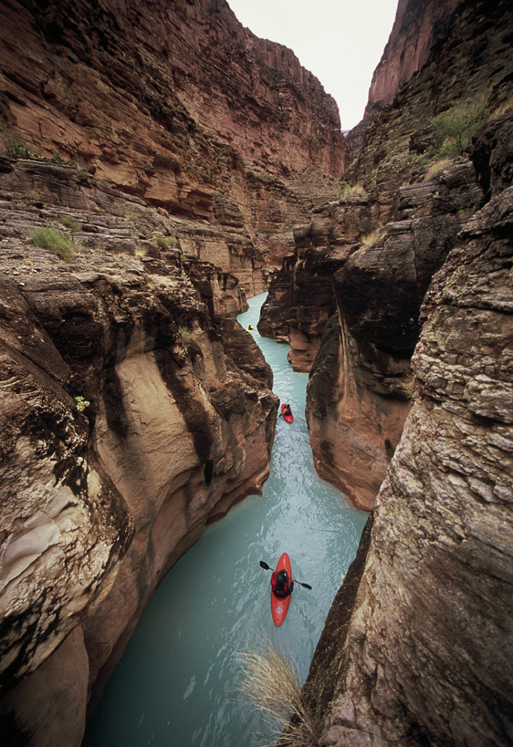 The blue waters of Havasu Canyon, a tributary to the Colorado.