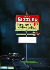 Sizzler Sign concept art