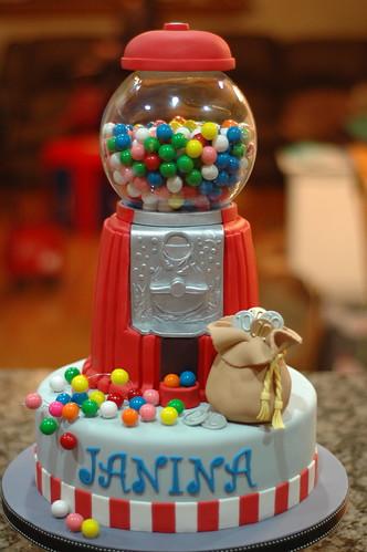 Janina's Gumball Machine Cake