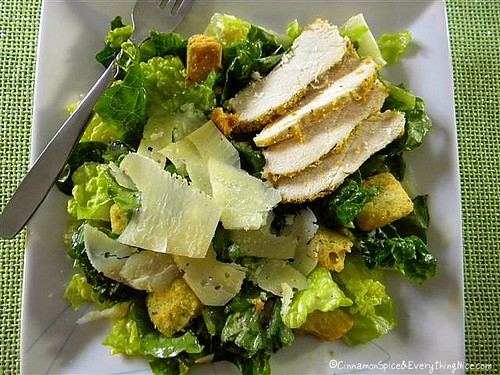 Caesar Salad with Parmesan Chicken
