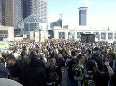 Dome crowd before NFC Championship