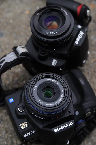 OLYMPUS E-620 and Nikon D40