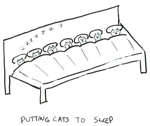 366 Cartoons - 357 - Putting Cats to Sleep