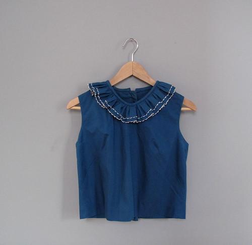 vtg ruffle blouse