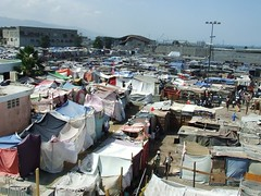 Tent city at Salvation Army compound in Port au Prince, Haiti