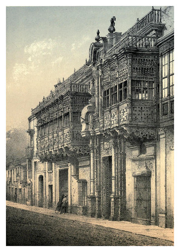 001-Fachada de la antigua mansion del Marques de Torre Tagle-Lima or Sketches of the capital of Peru-1866- Manuel Atanasio Fuentes Delgado