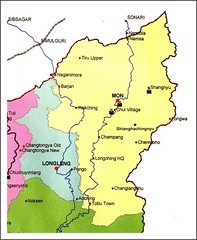 Mon district map (Linda DV) Tags: people map mon tribe 2008 sevensisters tribo stam chui naga nagaland tribu stamm  longwa trib trib 7sisters heimo northeastindia stamme pokolenia konyak   lindadevolder  shianghachingnyu shangnyu plemena pokolen
