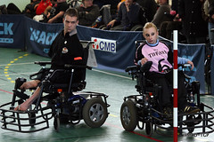 Foot-fauteuil (Magali Deval) Tags: france sport football brittany bretagne brest handisport footfauteuil powerchairfootball