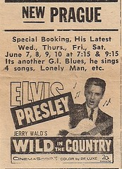 06/61 Elvis Wild In The Country Prague Theater, New Prague, MN)