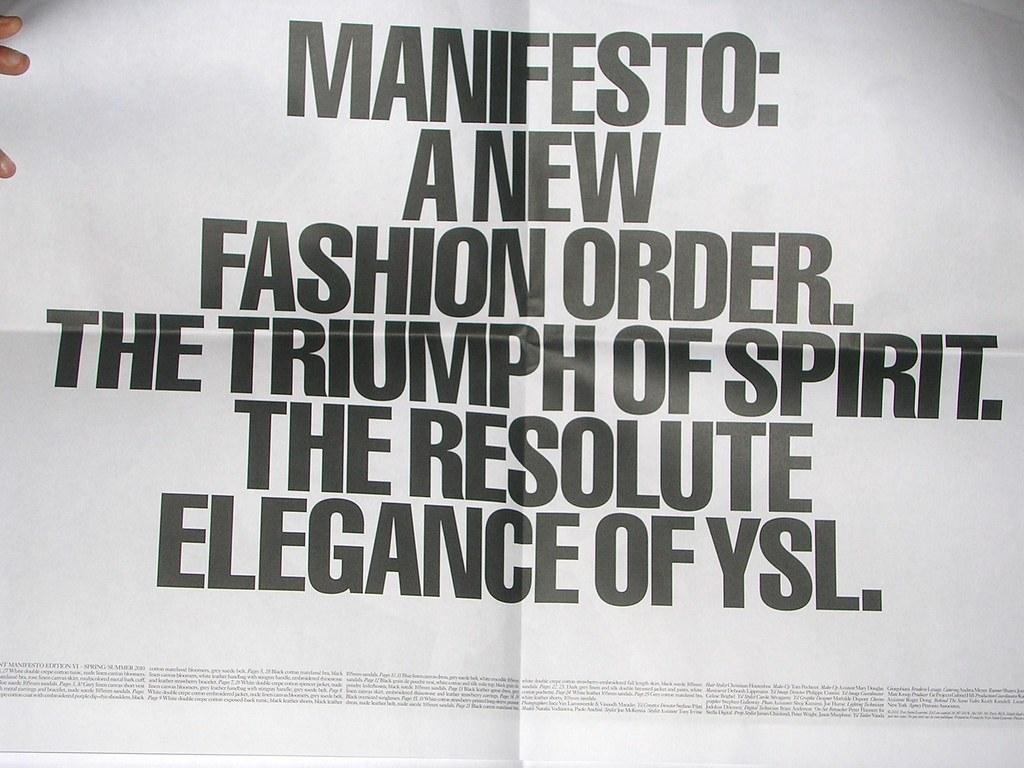 YSL Manifesto by Maison Chaplin