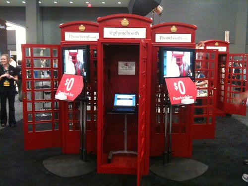 red phonebooths at south by southwest