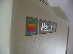 Mac 128K Back Logo (MJM1977) Tags: apple vintage computer macintosh mac antique 1984 128k 128