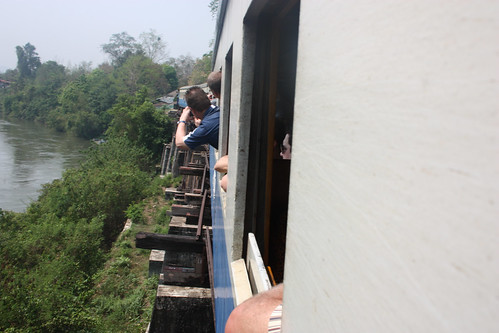 Going over a bridge on the Death Railway