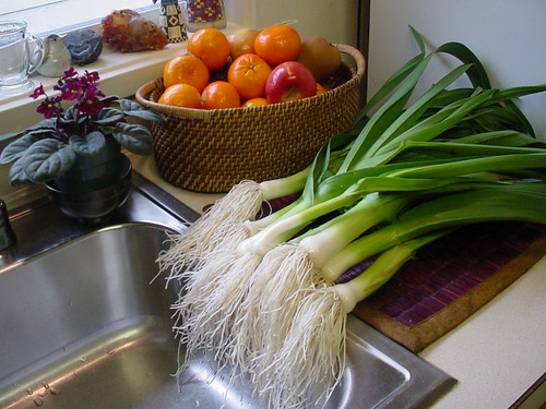 Leeks from the Garden