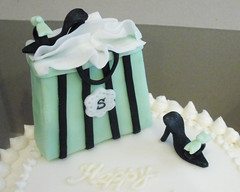 Shopping Cake - detail (CupCakeBite/Cup Cake Pantry) Tags: carrotcake whitechocolate shoecake shoppingcake cupcakepantry