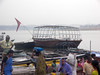 Empty Boat Varanasi (amiableguyforyou) Tags: india men up river underwear varanasi bathing dhoti oldmen ganges banaras benaras suriya uttarpradesh ritualbath hindus panche bathingghats ritualbathing langoti dhotar langota