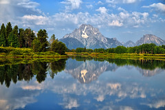 Oxbow Serenity (Jeff Clow) Tags: reflection nature river landscape explore snakeriver wyoming frontpage grandtetonnationalpark oxbowbend 1exp jacksonholewyoming jeffrclow