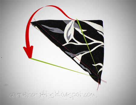 flower petal big hair clip fabric sewn