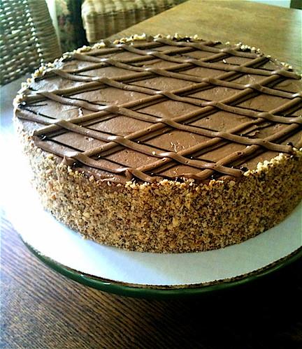 hazelnut mocha cherry torte