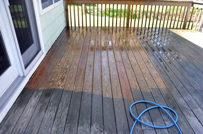 deck cleaning 2