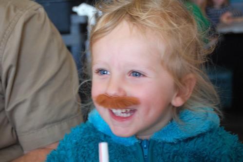 mustache girl
