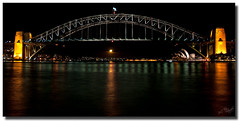 Moonrise (Just1Thing) Tags: moon sydney moonrise operahouse harbourbridge sydneyharbour sydneyharbourbridge bluespointreserve mcmahonspoint bluespoint