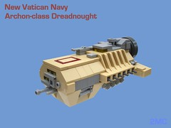 Vatican Dreadnought (2 Much Caffeine) Tags: lego space micro moc dreadnought ironbuilder ifttt sickofthesightofthisbloodypiece