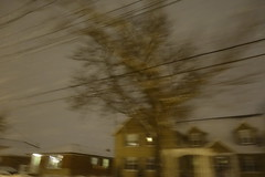 DSC02098 (andre vautour) Tags: houses motion yellow night blog blurry driving grunge approved feels