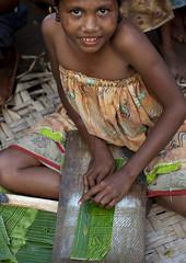 Making some Doba money - Trobriand Papua New Guinea (Eric La