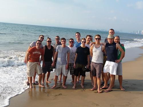 Group shot at Puerto Vallarta beach
