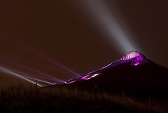 Roseberry Glow - Oct 2009 (Ben Pearey) Tags: show light mountain art public night exposure glow hill great lon odin moor middlesbrough teesside topping ayton odins rosberry bppnight