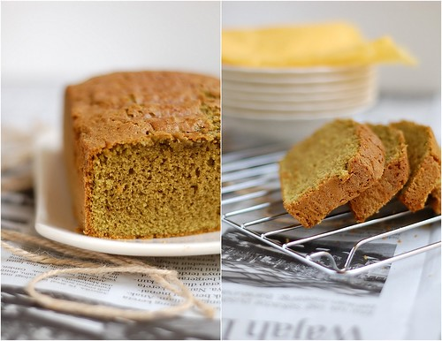 green tea pound cake