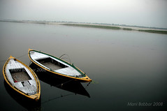Two (~FreeBirD~) Tags: life old travel two india up boats colours shot time memories surreal peaceful calm indeed traveller journey collections varanasi wait value majestic 2008 patience benares natgeo uttarpradesh timetraveller yamuna ngm manibabbar coloursofindia holidaysvacanzeurlaub maniya indyeaah riversofindia bankofyamuna