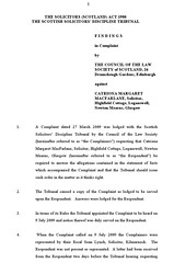 Law Society of Scotland v Catriona Macfarlane 1a