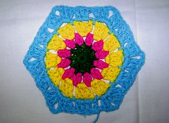 My first Hexagon (LauraLRF) Tags: thread rustico crochet colores yarn cotton hexagon hilo algodon tejido ganchillo brillantes hexagono attic24